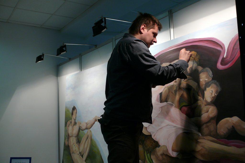 Malowanie obrazów olejnych, malowanie na płótnie znanych dzieł