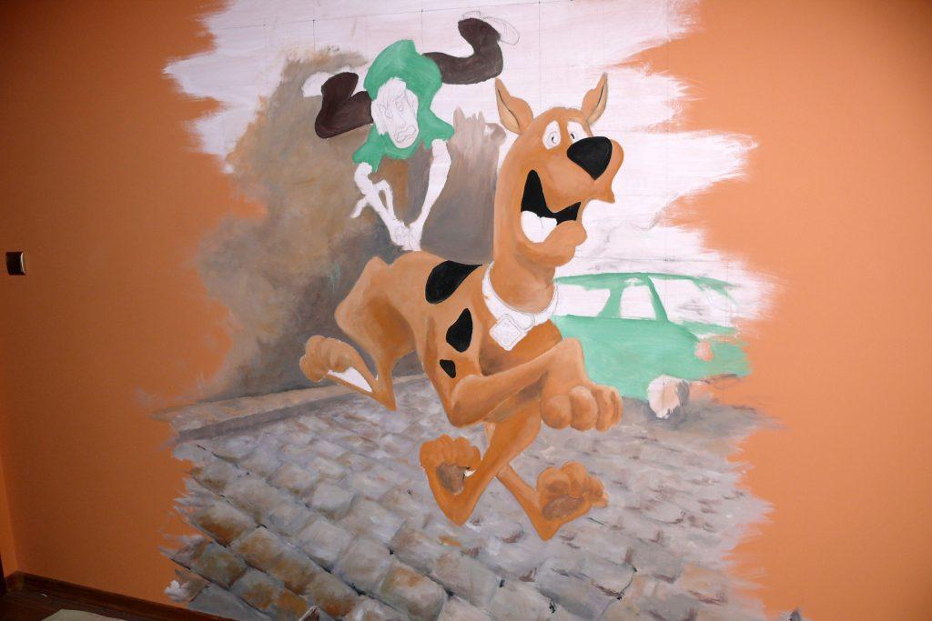 Malowanie pokoju dziecięcego, graffiti 3D,