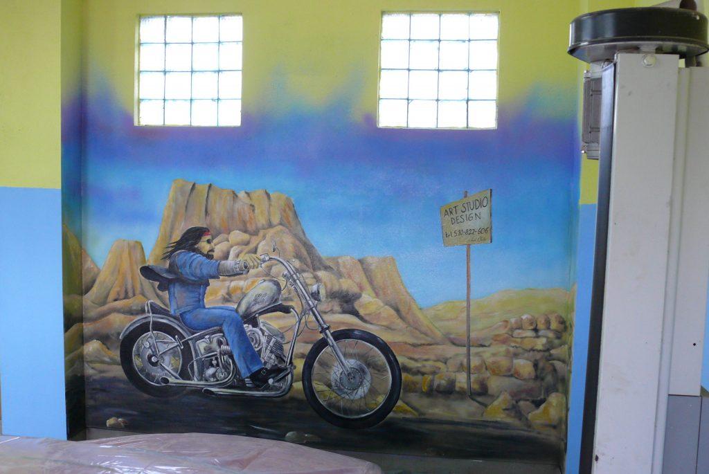 Harley Davidson - mural na ścianie,