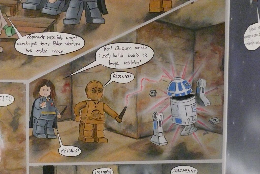 Malowanie komiksu na ścianie, sztuka komiksu na ścianie mural w pokoju dziecka