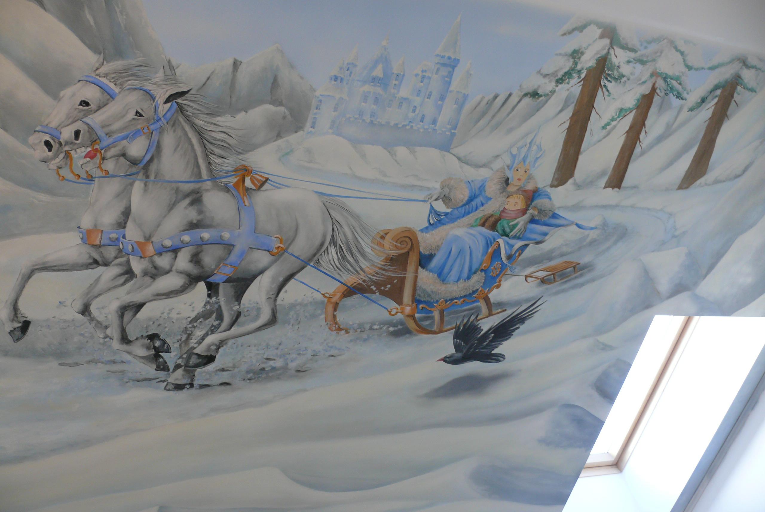 Rysunek Na ścianie W Pokoju Dziewczynki Pracownia Malarstwa