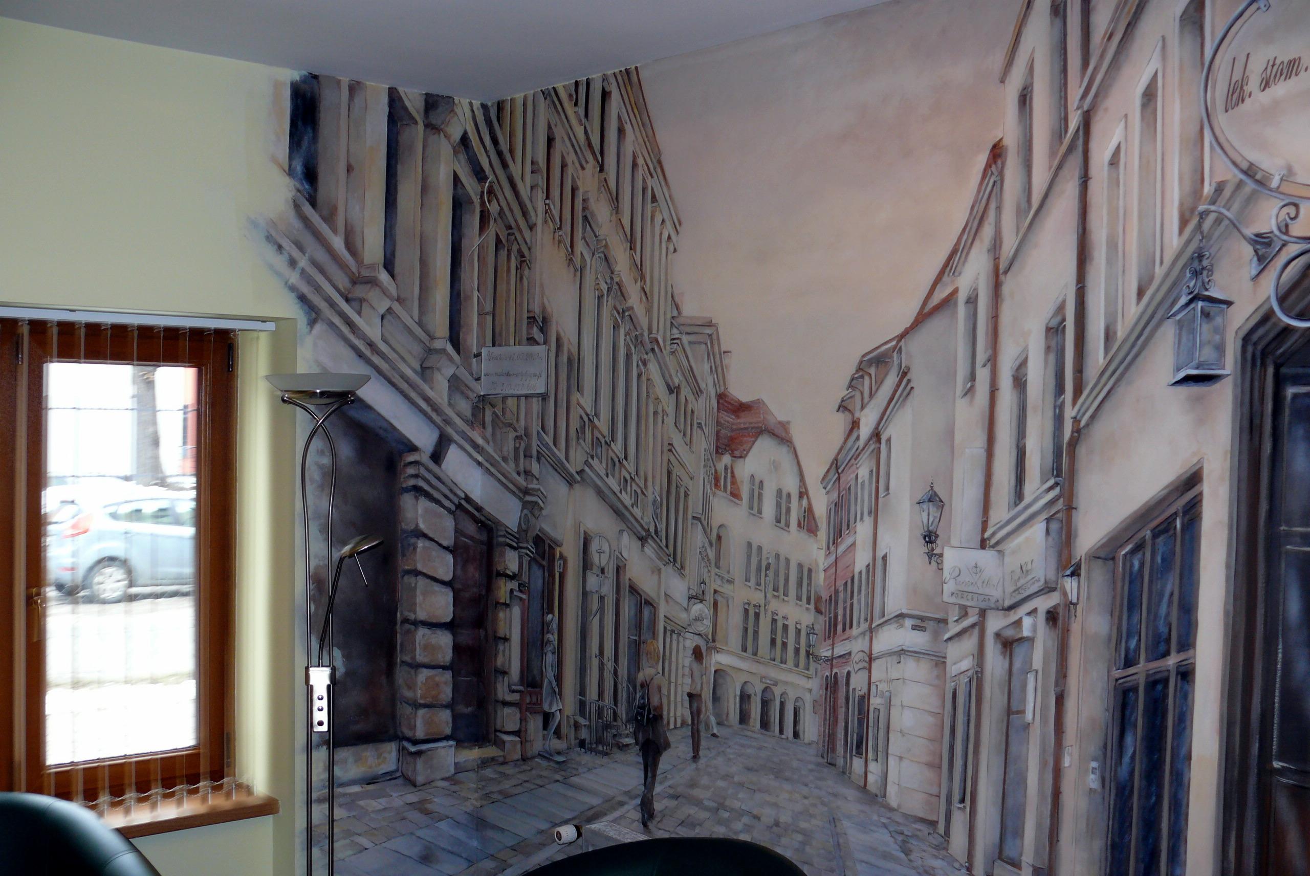 Malowanie uliczki w perspektywie