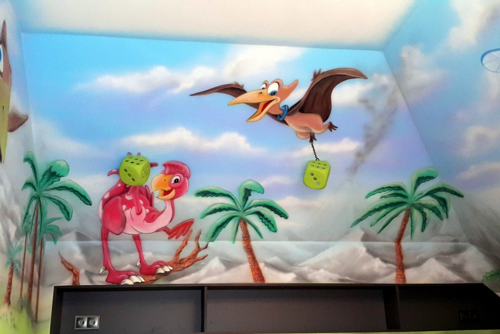 malowanie dinozaurów