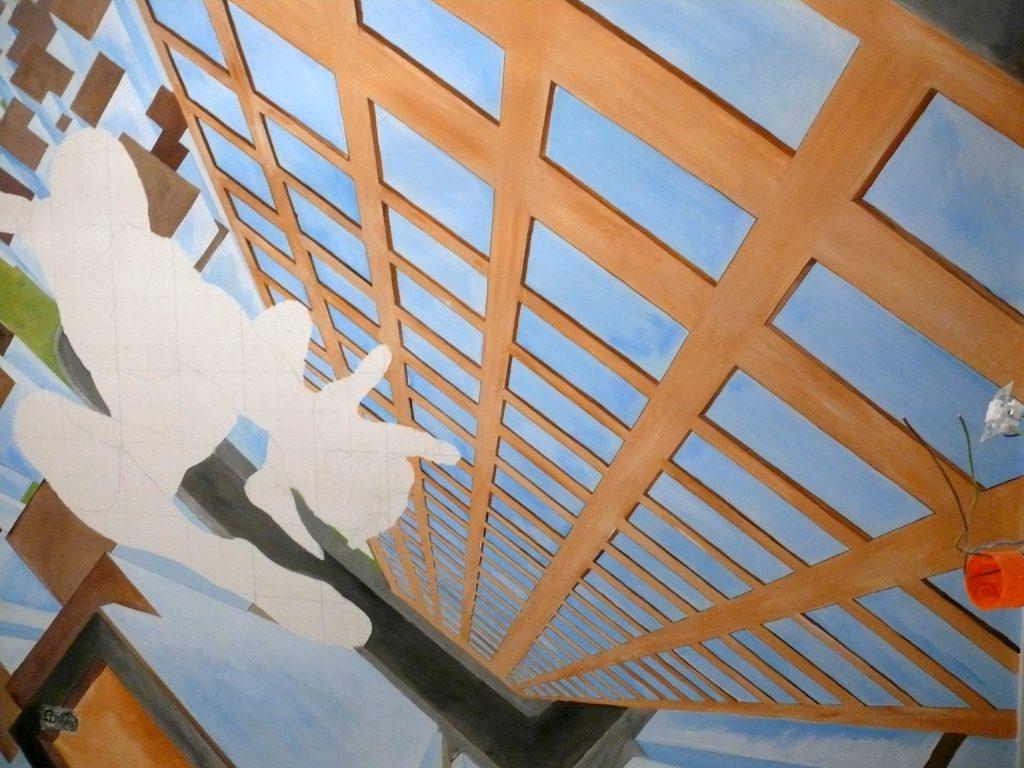 Pokój chłopca malowanie obrazu na ścianie Spider-man
