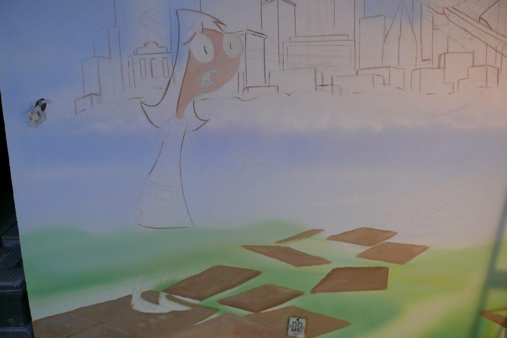 Graffiti 3D w pokoju dziewczynki