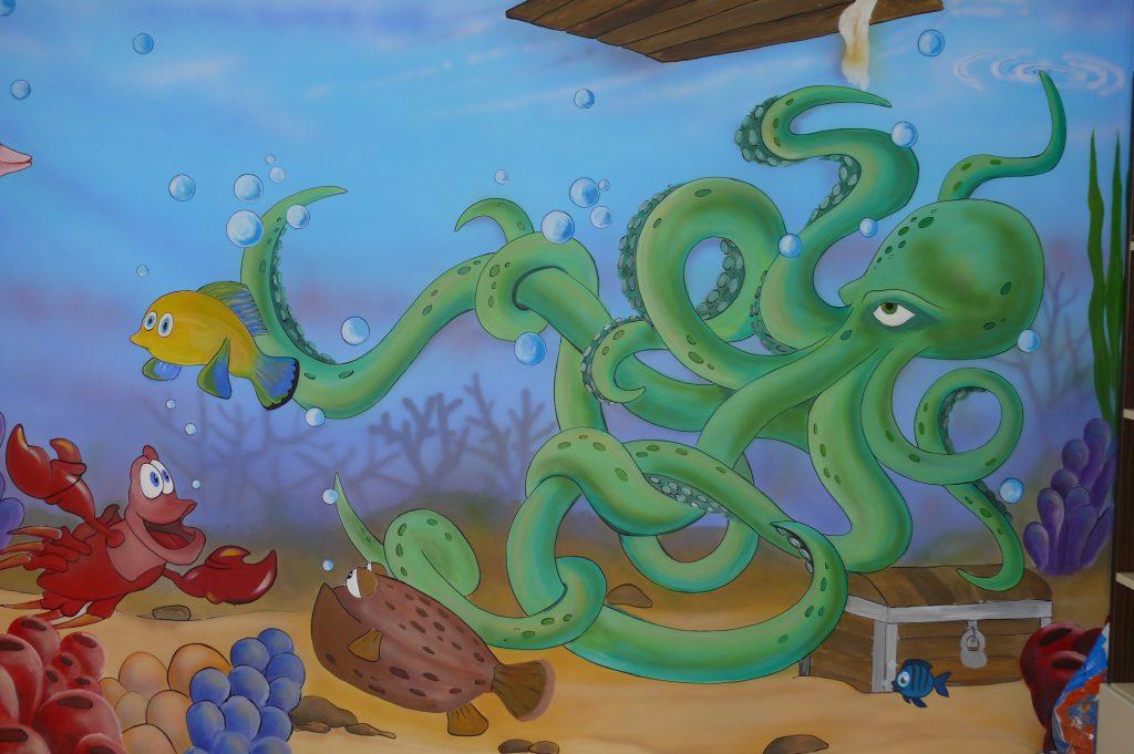 Malowanie pokoju dziecięcego, graffiti 3D