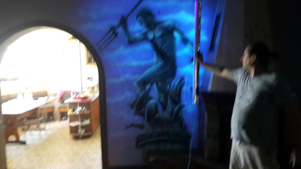 Obraz w ultrafiolecie, mural ścienne 3D, malowanie Naptuna