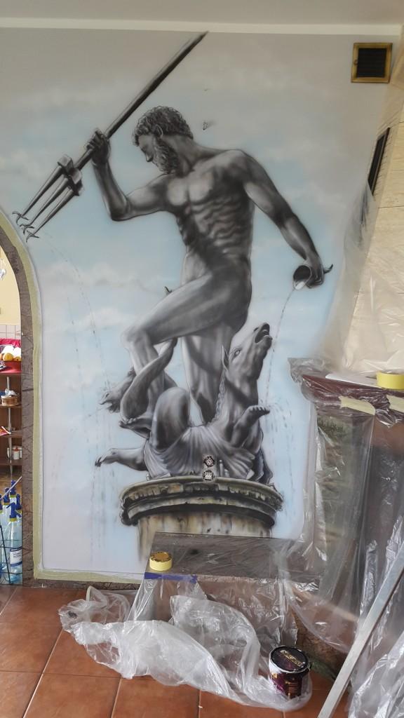 Malowanie obrazu na ścianie Neptun Gdański