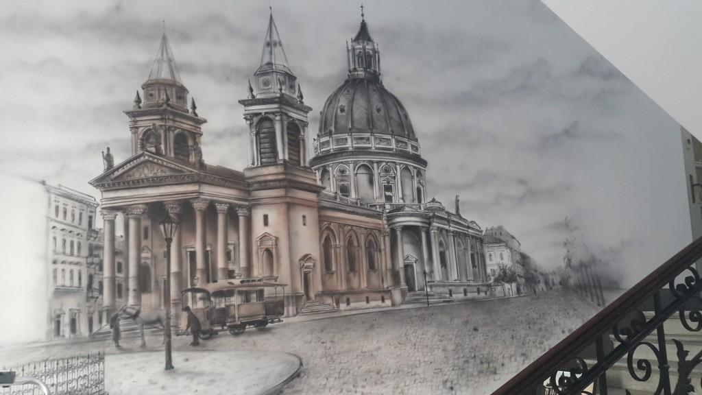 Malarstwo ścienne, malowanie motywu architektonicznego