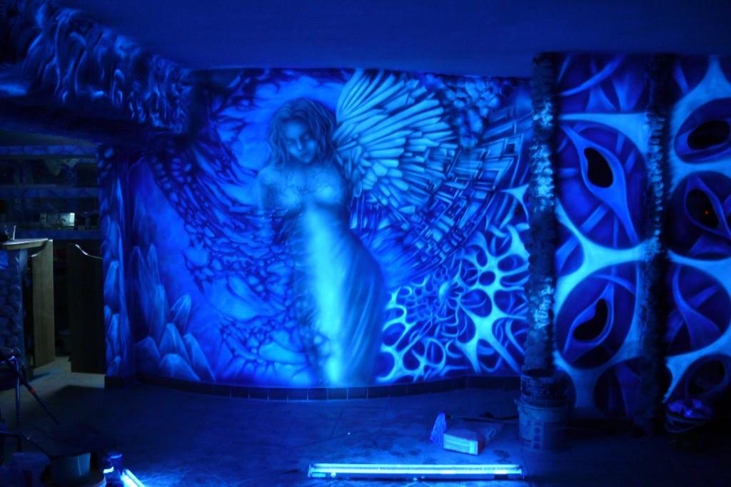 Biomechanika, abstrakcyjny obraz do wnętrza nowoczesnego klubu