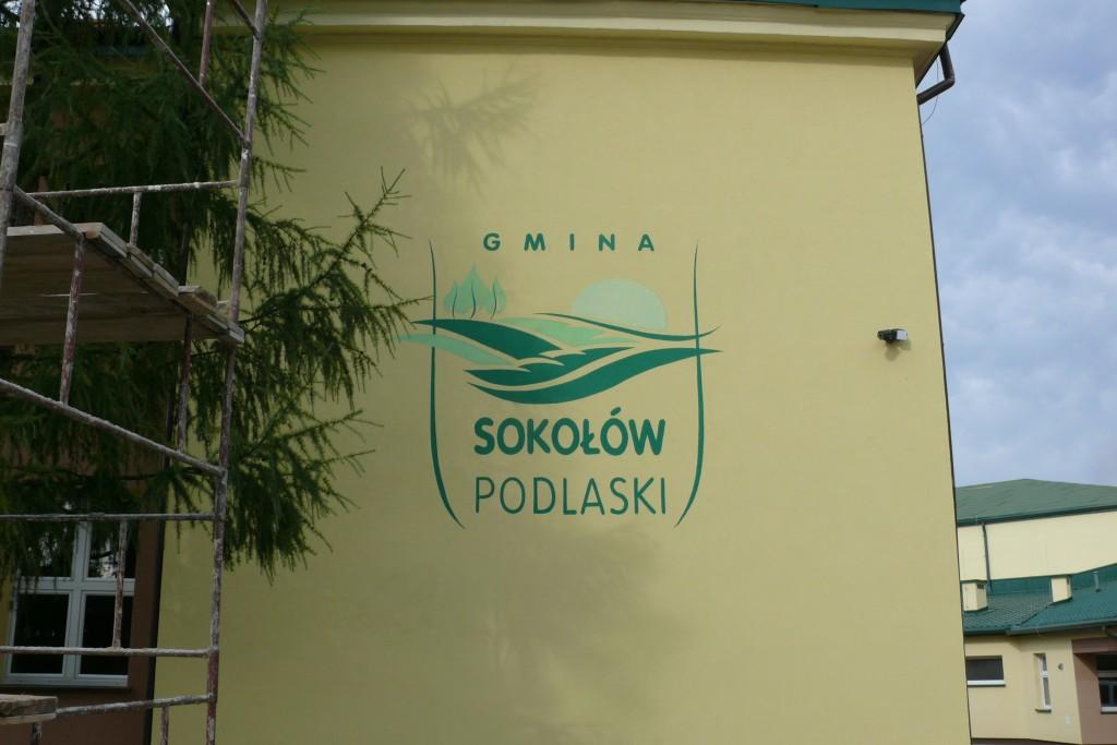 Malowanie loga na ścianie , malowanie szyldów, logotypów, napisów