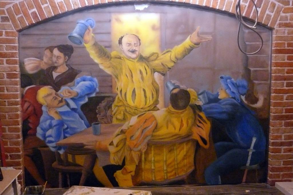 Malowanie obrazu na ścianie aranżacja ścian w zabytkowym dworze