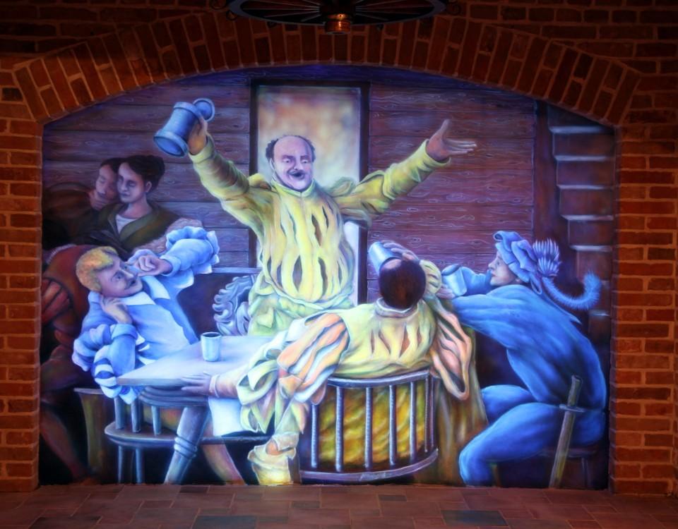 Fresk, artystyczne malowanie ścian, aranżacja ścian w dworze fijewo