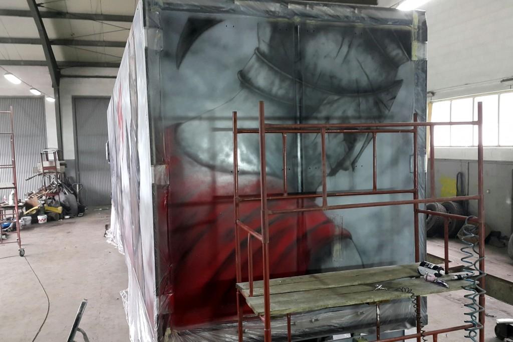 Malowanie tira, aribrush truck,