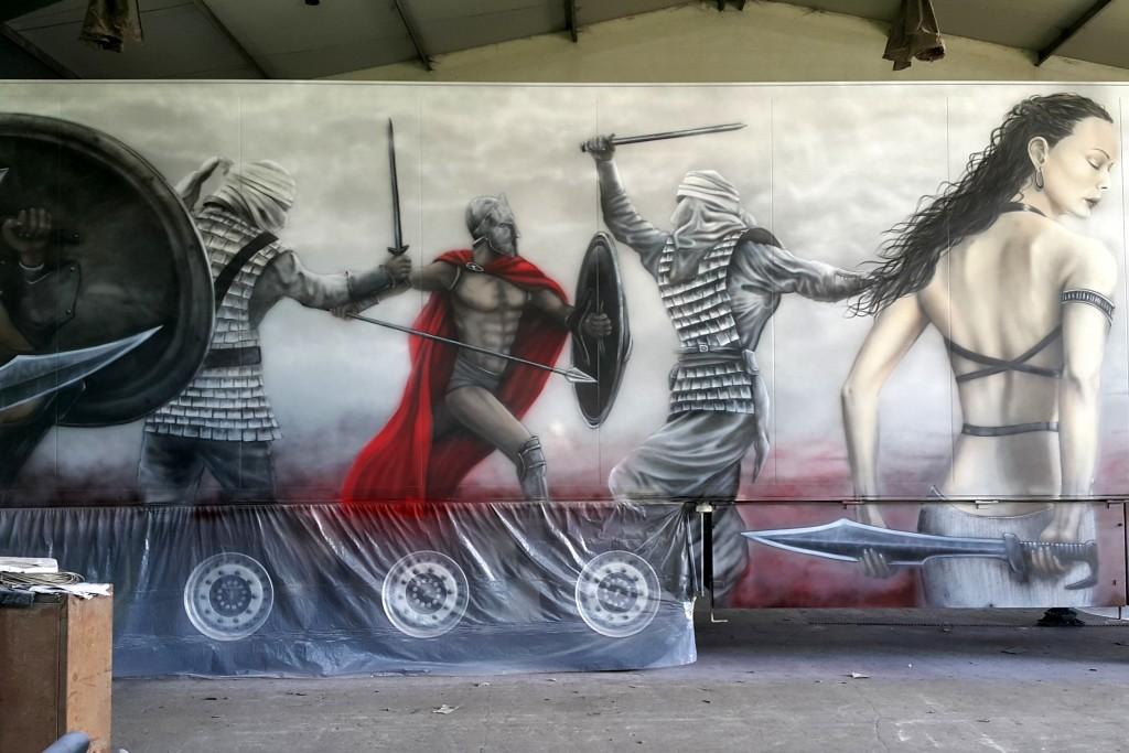 Artystyczne malowanie tira areografem