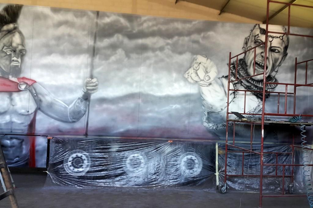 Malowanie tira areografem airbrush truck