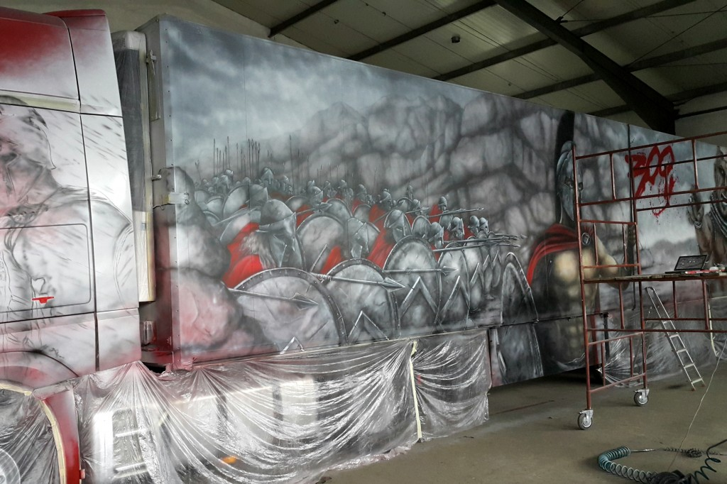 Airbrush truck, malowanie samochodu ciężarowego,