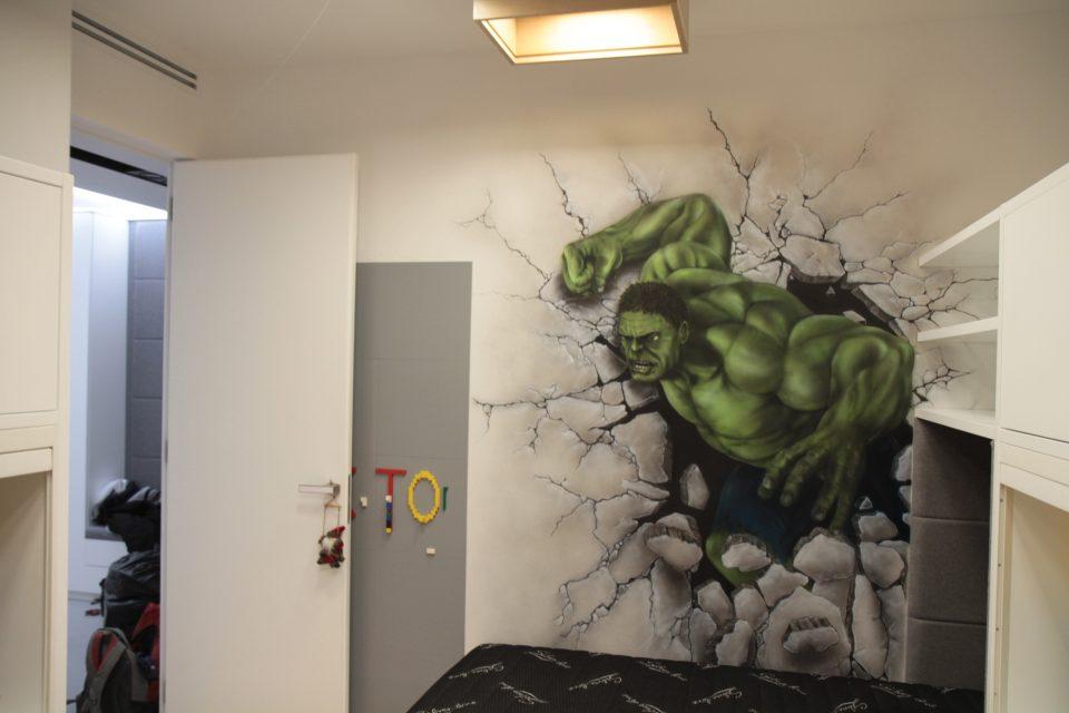 Hulk ,mural