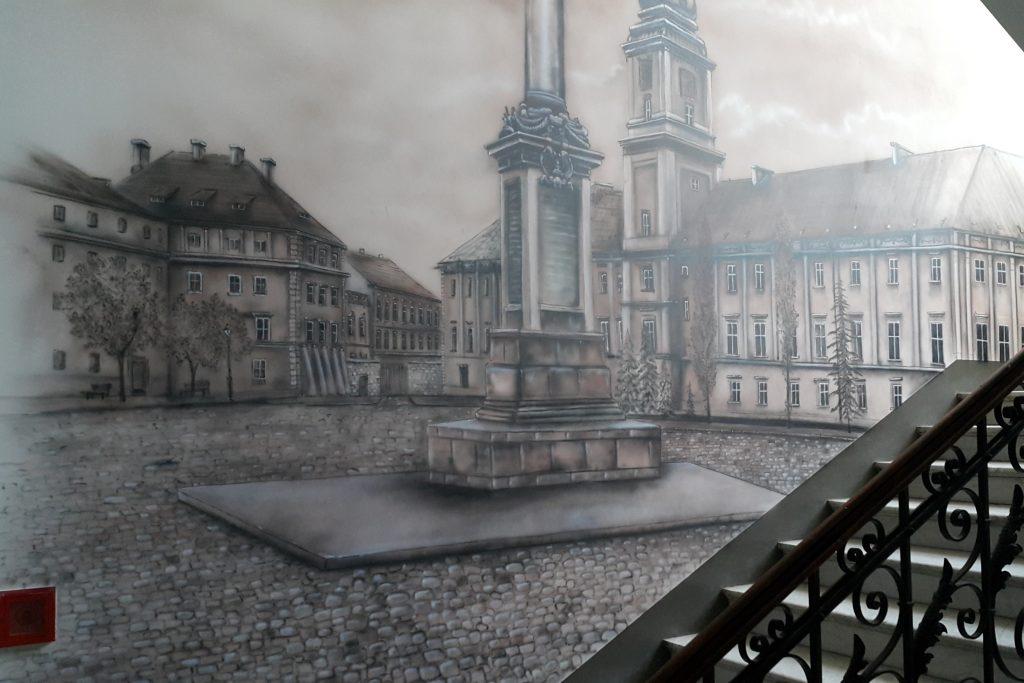 Malowanie obrazów na ścianie, mural zabytkowa warszawa