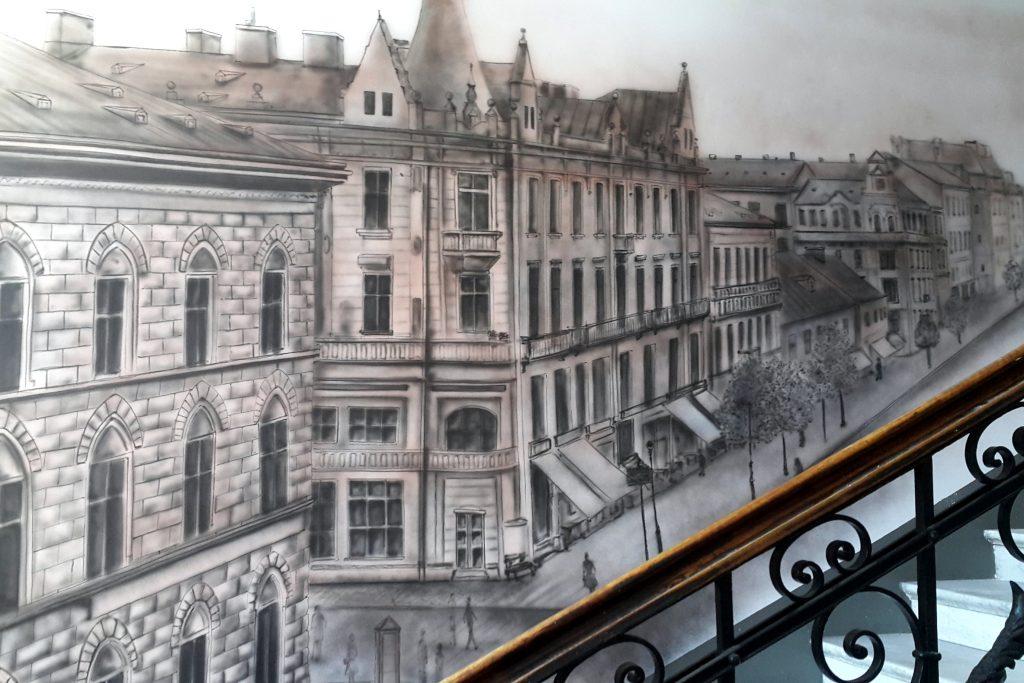 Malowanie obrazu na ścianie, mural 3D