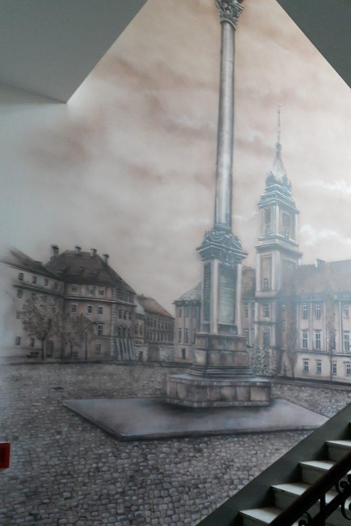 Malowanie obrazu na ścianie , graffiti 3d, malowidła ścienne