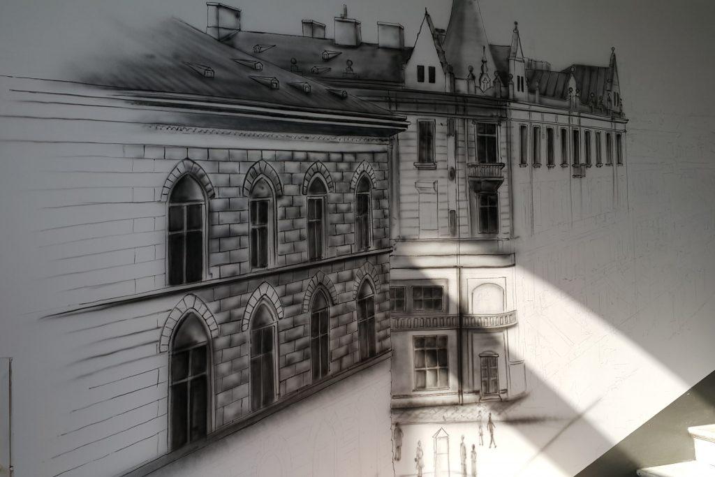 malowanie obrazów na ścianie, mural ścienny 3D