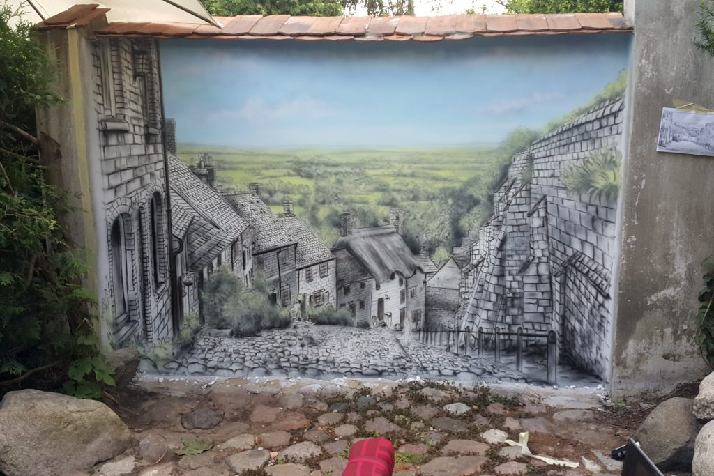 Obraz 3D namalowany na ścianie