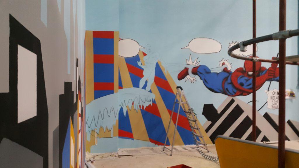 Artystyczne malowanie ścian, mural 3D