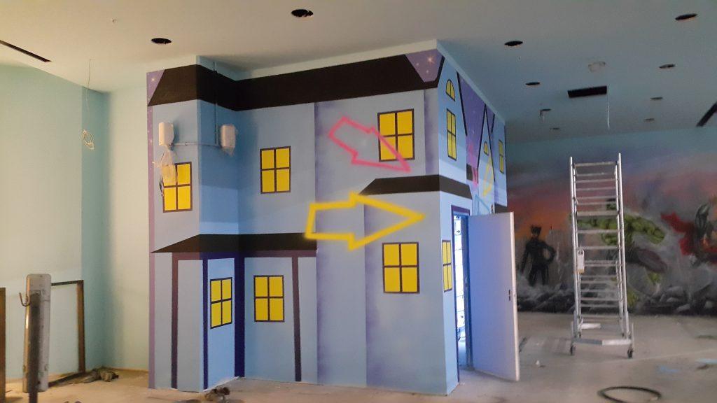 Malowanie bawialni dla dzieci