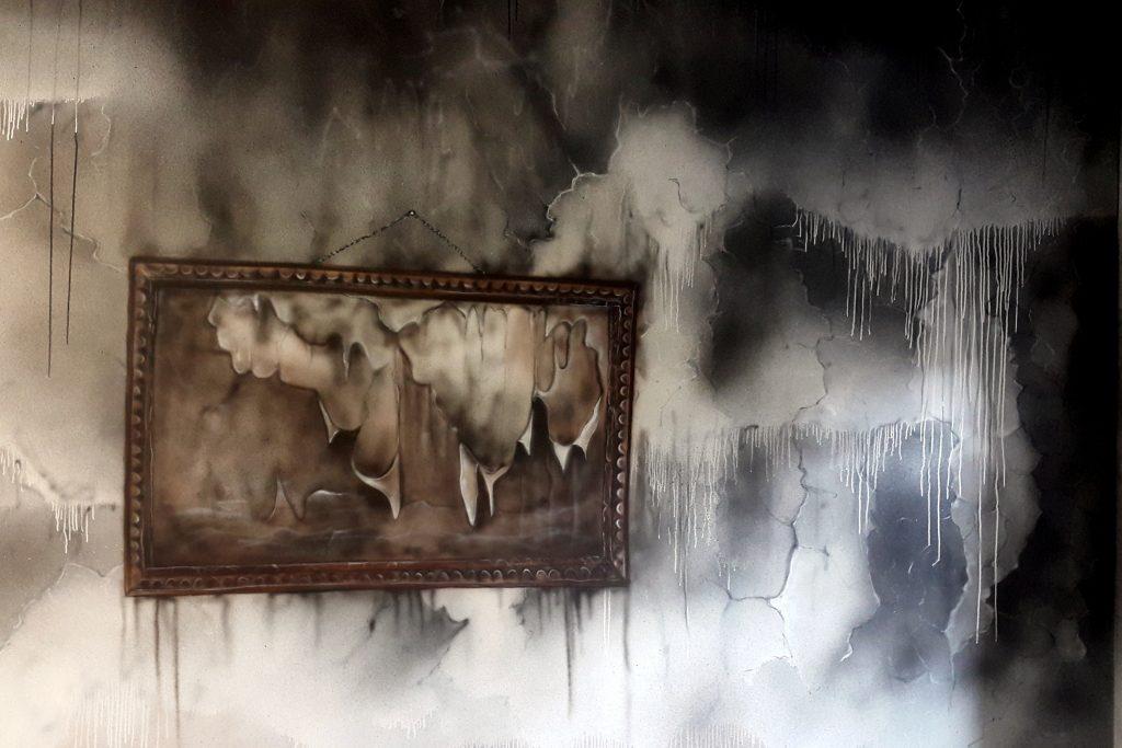 Artystyczne malowanie ścian, obraz abstrakcyjny