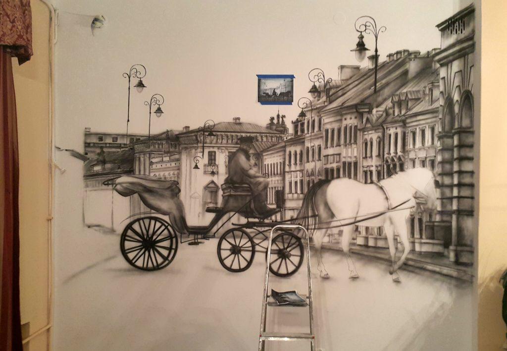 Malowanie obrazów na ścianie, murale