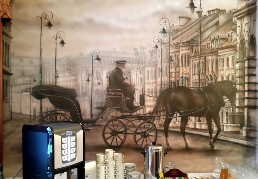 Malowidło ścienne w klimacie retro