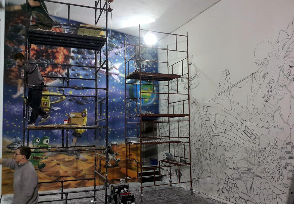 malowanie ściany wspinaczkowej
