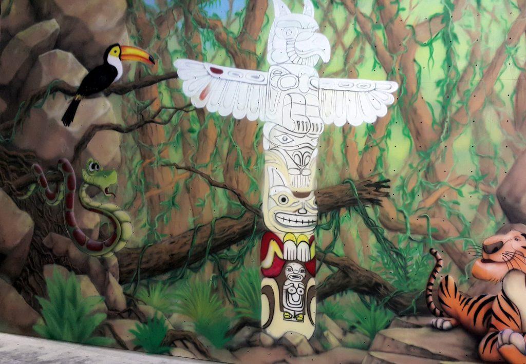 Malowanie ścian areografem, duże graffiti na scianie