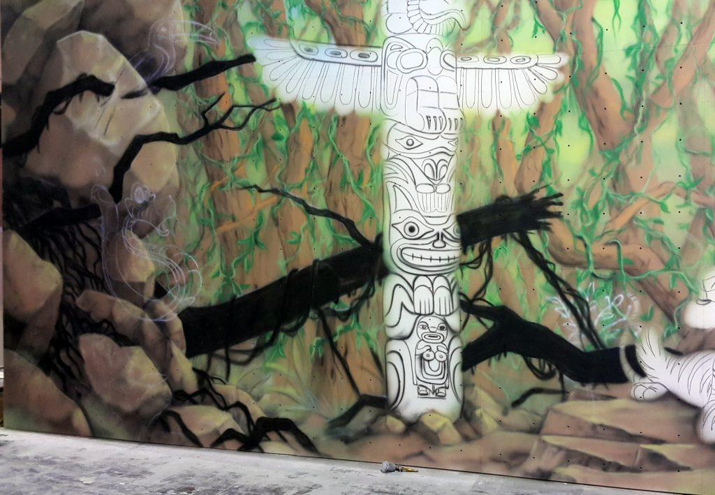 Malowanie murali, grafika ścienna 3D