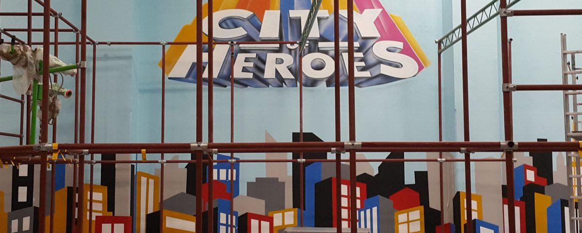 Mural graficzny, malowanie loga, napis na ścianie reklama ręcznie malowana