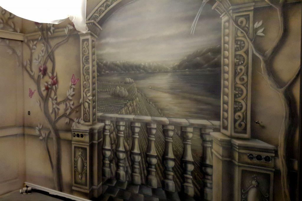 Obraz 3D w sypialni, Inspiracje, aranżacja ściany w sypialni, malowanie obrazu, Jak pomalować sypialnię?
