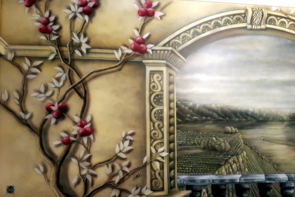 Obraz 3D w sypialni, Malowanie obrazu na ścianie w sypialni, fresk ścienny, jak pomalować sypialnie?