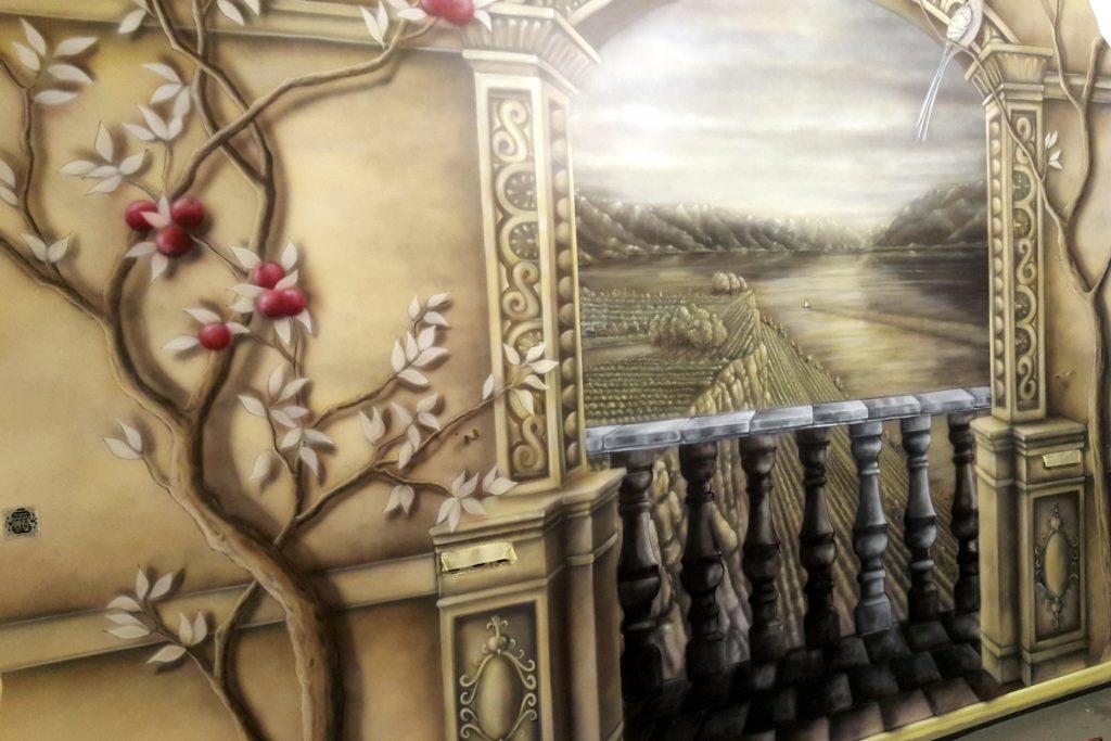 Obraz 3D w sypialni, Artystyczne malowanie ścian w sypialni