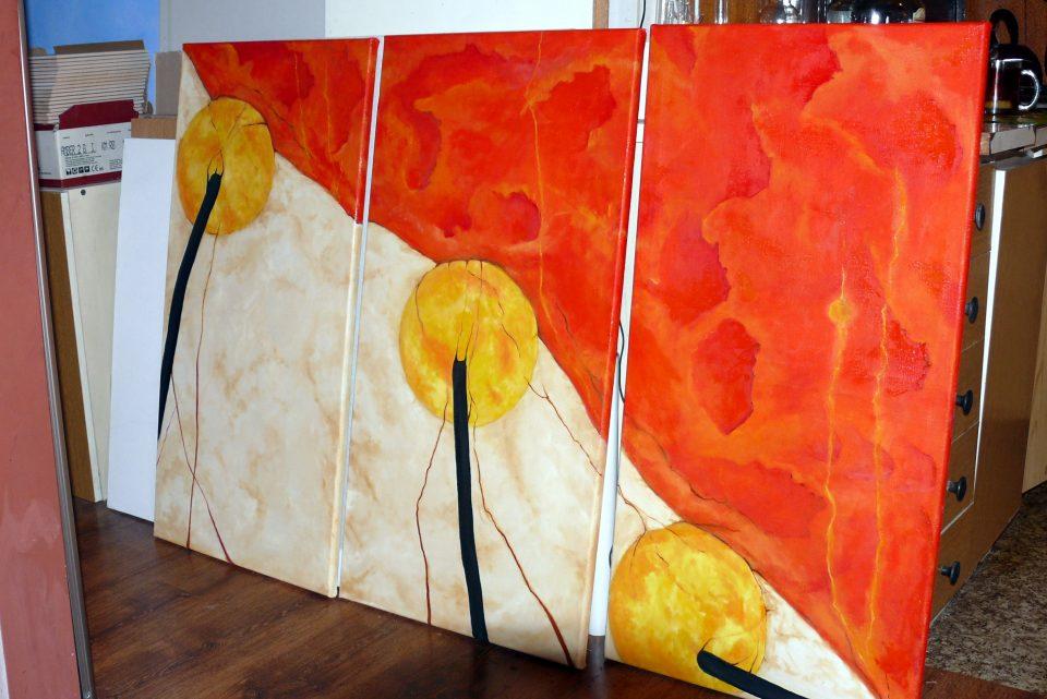 Malowanie nowoczesnego obrazu olejnego, obrazy surrealistyczne