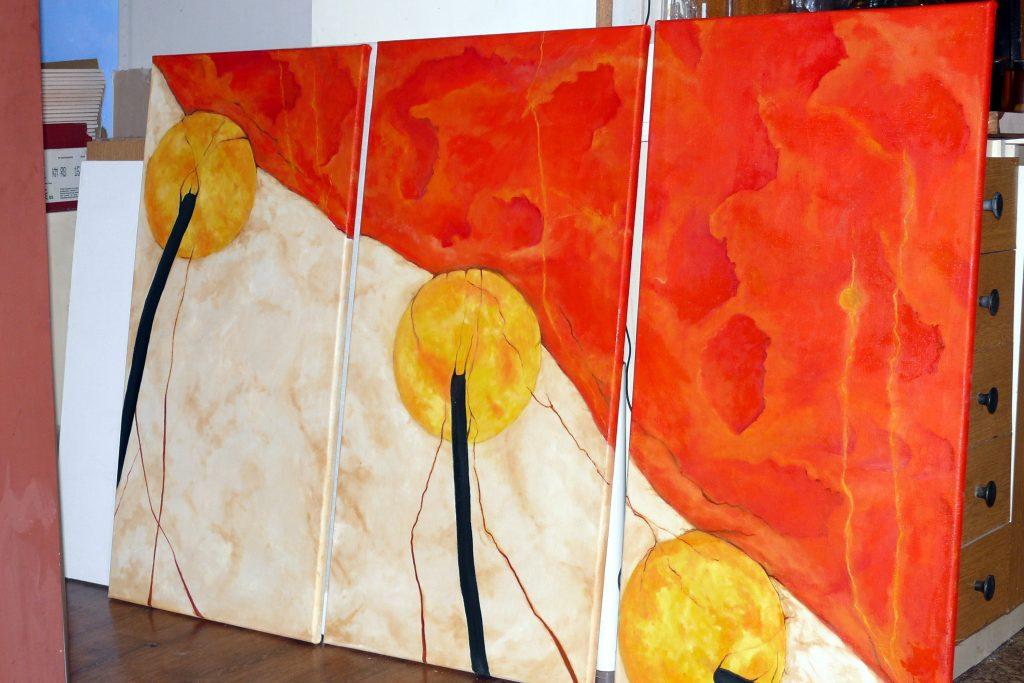 Obrazy abstrakcyjne, malowanie obrazu surrealistycznego, obrazy olejne