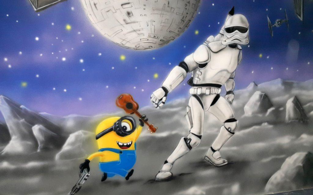 Malowanie sali urodzinowej, w gwiezdne wojny