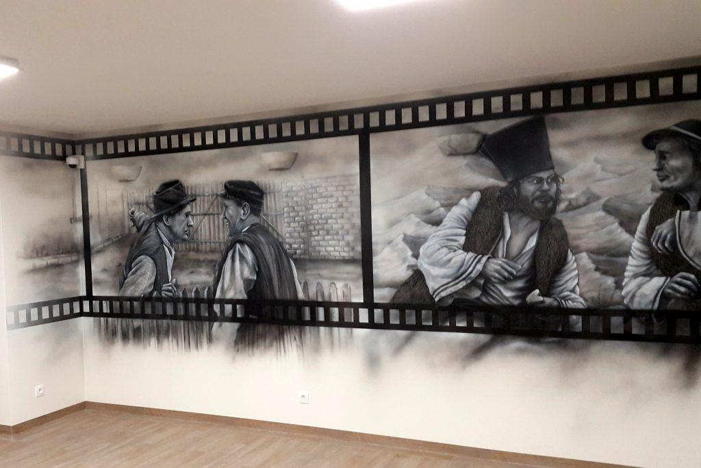 Malowidło ścienne, malowanie obrazów na scianie