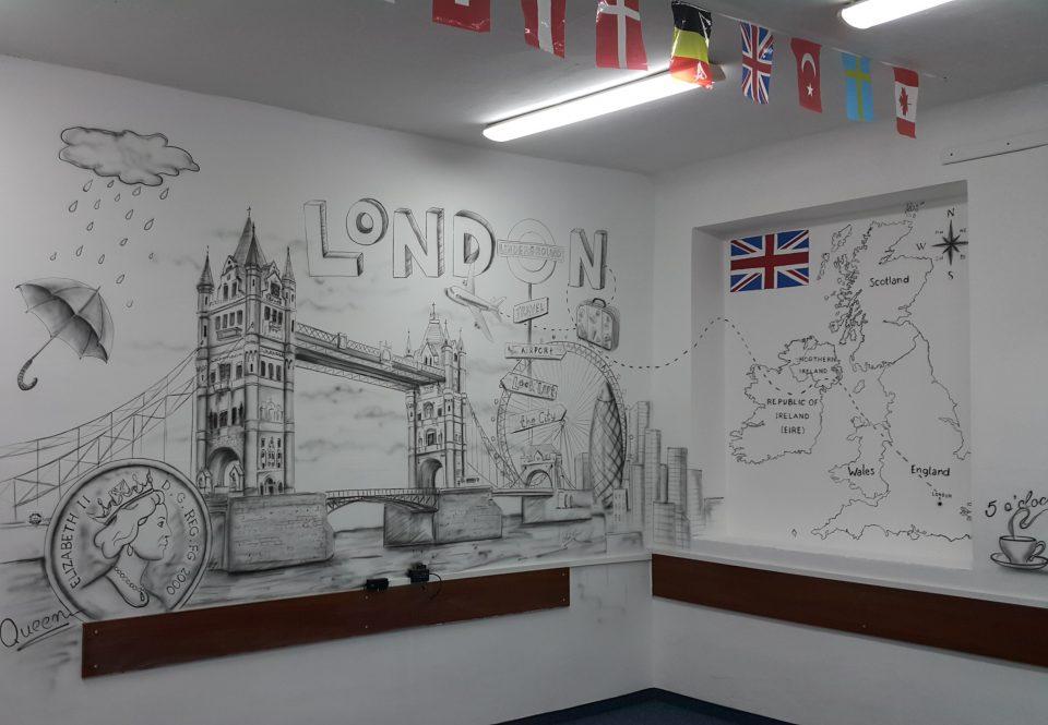 Malowanie w klasie jezykowej