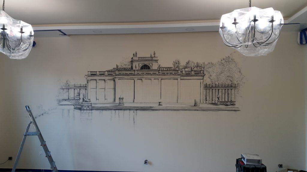 Malowanie obrazów na ścianie, malowidło ścienne Warszawa, mural 3D
