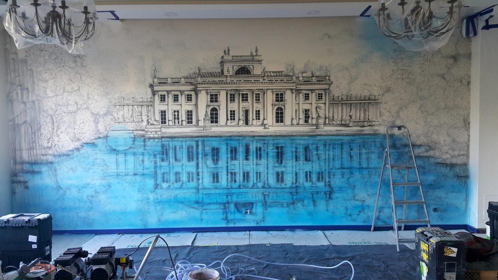 Malowanie obrazów na ścianie, artystyczne malowanie ścian 3D