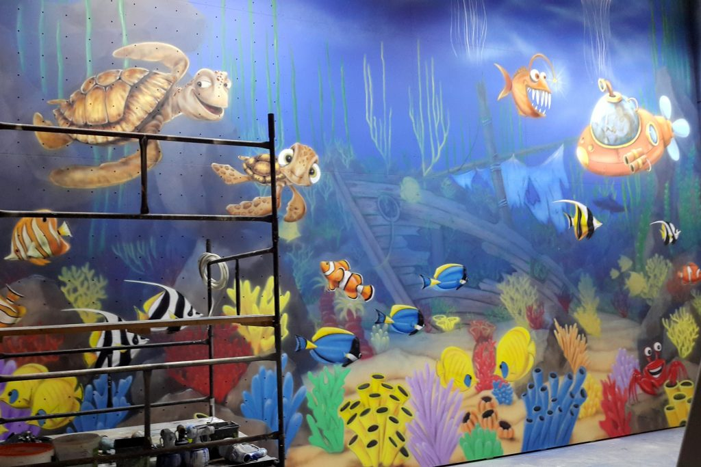 Malowanie podwodnego świata,