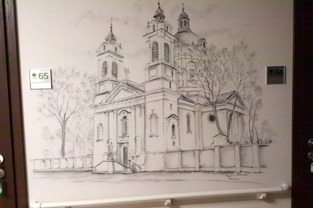 Malowanie obrazów na zamówienie, malowidło ścienne w czarno -bieli