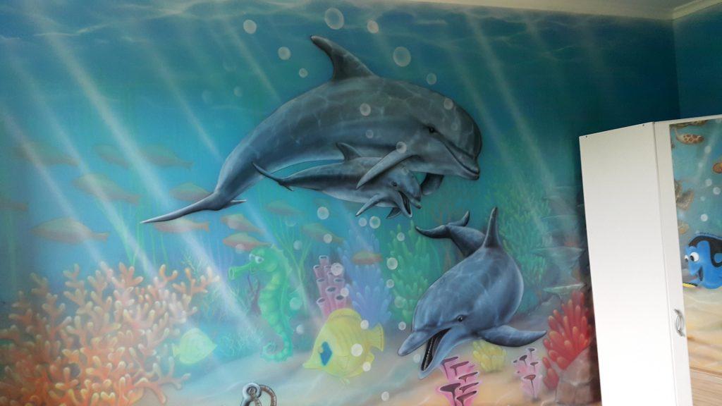 Malowanie pokoju dziecięcego, pokój chłopca graffiti artystyczne