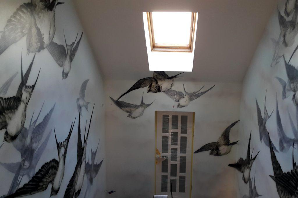Mural na klatce schodowej, malowanie klatki schodowej